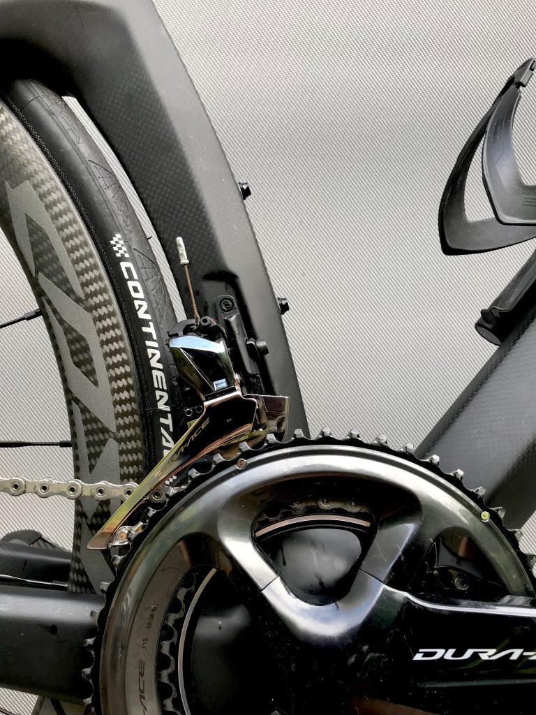 Das Herzstück: Antrieb mit Dura Ace R9100. Ohne Power, denn die...