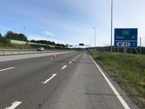 Die letzten 15 km tun weh: Es geht auf der Autobahn bergauf und danach mit Gegenwind über die Stadtautobahn.