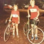 Jens (rechts) mit dem Nardelli, links ich mit meinem ersten Rennrad