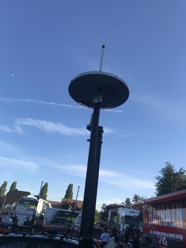 Nicht der Fernsehturm von Mulhouse, sondern die Funkantenne für Radio Tour